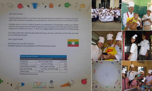 Myanmar 2 x ,- International World Chefs Day 2015 Blind